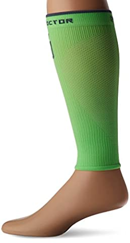 Shock Doctor SVR Recovery Compression Calf Sleeve, Shock Green, Adult-X-Large (G Shocks X Large)