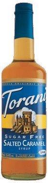 Torani Sugar Free Salted Caramel Syrup, 12.7 Fluid Ounce - 6 per case.