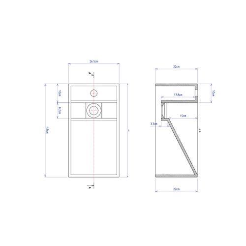 ambra Lave-Mains Suspendu en Solid Surface 50 cm Rh/éa G