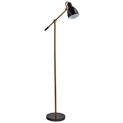 Rivet Caden Adjustable Task Floor Lamp with  Bulb, 60