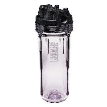 Cole-Parmer 150435 Double Open End Cold Water Housing w/Clear SAN Sump and Pressure Valve