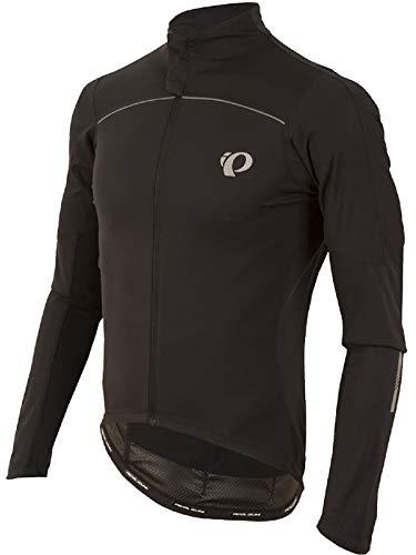 Pearl iZUMi Men's Pro Pursuit Long Sleeve Wind Jersey, Black/Black, Medium