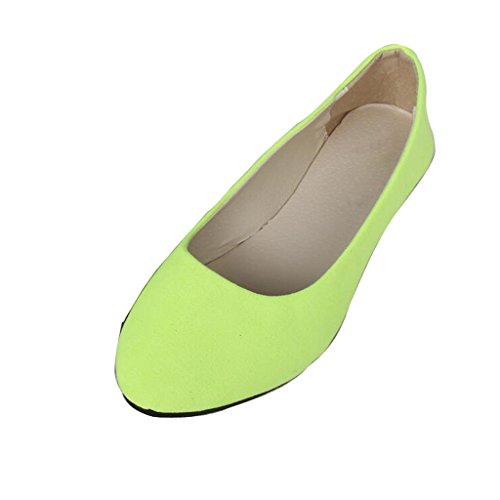 Dear Time Women Flat Shoes Comfortable Slip on Pointed Toe Ballet Flats US 7.5