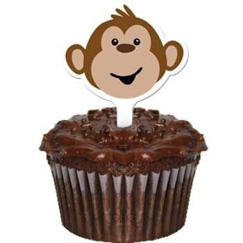 Monkeyin' Around Party Cupcake Pics 12 Pack - Halloween Costumes Pics Ideas