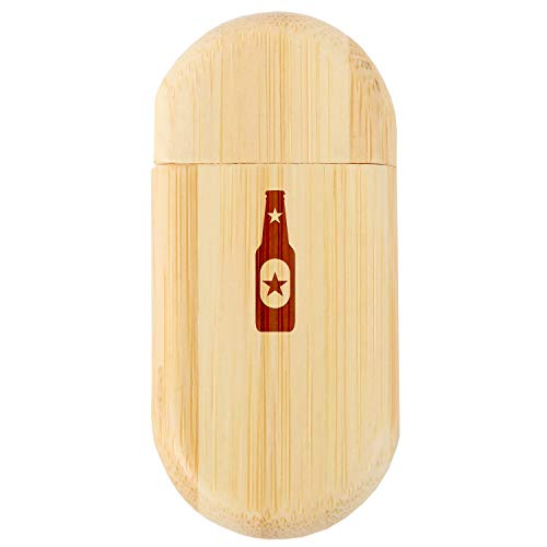 - Beer Bottle 8Gb Bamboo USB Flash Drive with Rounded Corners - Wood Flash Drive with Laser Engraving - 8Gb USB Gift for All Occasions
