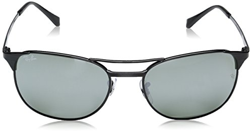 Ray-Ban Men's Metal Man Square Sunglasses, Shiny Black, 58 mm by Ray-Ban (Image #2)