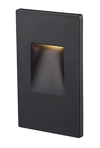 Cloudy Bay Stair Light,LED Stairway Indoor Outdoor Step Light,3.5W 150 lumen,ETL Certified,Oil Rubbed Bronze (Recessed Vertical Step Light)