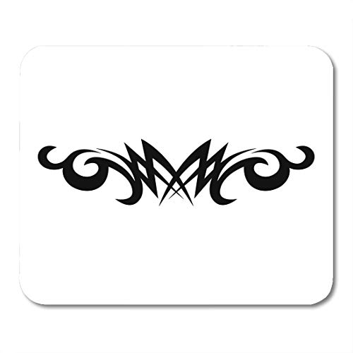 Boszina Mouse Pads Tattoo Tribal Lower Back Simple Individual Designer for Decorating The Body of Women and Girls Waist Mouse Pad for notebooks,Desktop Computers mats 9.5