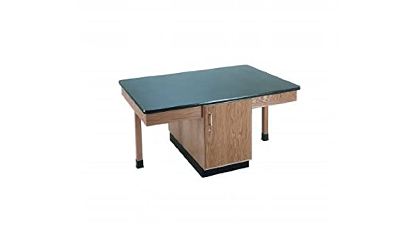 Diversified Woodcrafts 2306k Solid Oak Wood 4 Station Table