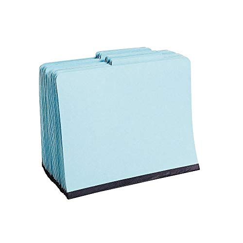 (Staples Colored Pressboard Classification Folders, Letter, 3 Partitions, Light Blue, 20/Pack)
