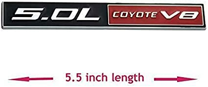 Black//Red Mustang GT 5.0 Emblem F150 FX4 Coyote V8 5.0L Decal Badge 3pc