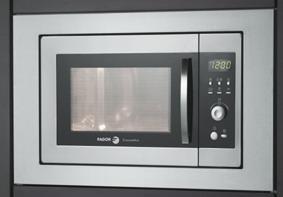 Fagor MW4-17EG X, 1080 W, 230V, 50 Hz, Acero inoxidable, 455 x 330 ...