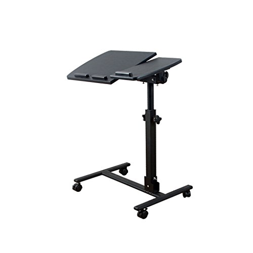 MEI Computer armoires Height Adjustable Laptop Table,Bedroom Living Room Sofa Side Bedside Lazy Table Can Move Collapsible (Color : C) ()