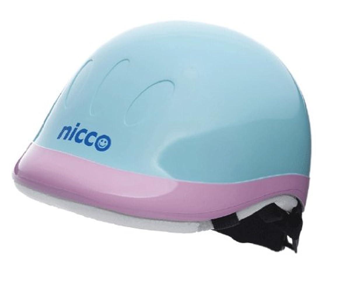 [해외] nicco 니코 하드쉘 헬멧 블루핑크 KH001