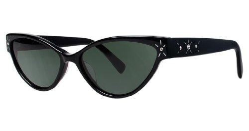 Seraphin Neoclassic Polarized Maryland Sunglasses Black with Rhinestones - Sunglasses Seraphin