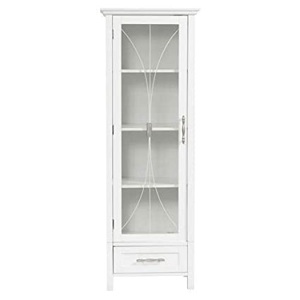 Attirant Delaney Linen Cabinet In White