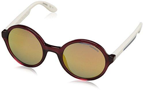 Carrera sunglasses 5008 0THUW Acetate Transparent Purple - Ivory Grey with Petrol mirror - Sunglasses Purple Carrera