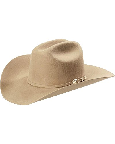 Stetson Men's 4X Corral Buffalo Felt Hat Sand 7 1/2 (Buffalo Hat Leather)
