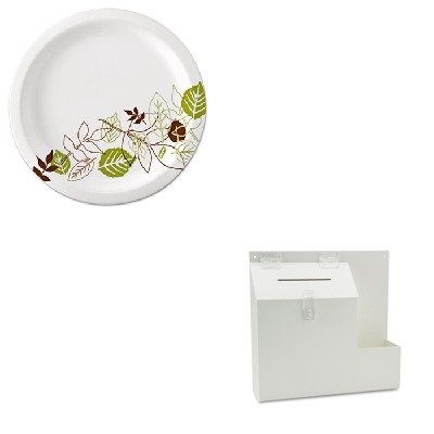 KITDEF79803DXEUX9WSPK - Value Kit - Deflect-o Plastic Suggestion Box with Locking Top (DEF79803) and Dixie Pathways Mediumweight Paper Plates (DXEUX9WSPK)