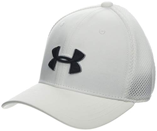 - Under Armour Boys' Golf Classic Mesh 2.0 Cap, White (100)/Black, Youth X-Small/Small