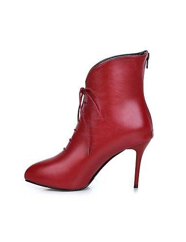 y Moda a uk6 cn39 red us8 Noche us8 Rojo eu39 Botas mujer red red us8 uk6 Zapatos XZZ Fiesta eu39 de Stiletto la cn39 Negro Vellón eu39 Azul Vestido uk6 cn39 Botas Tacón Bx8w7Y