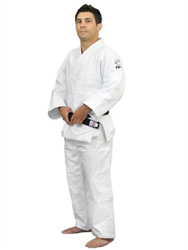 Fuji Double Weave Judo GI Uniform, White, 4.5