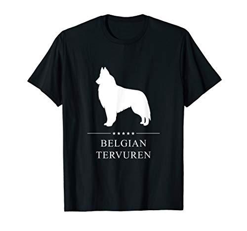 Belgian Tervuren: White Silhouette T-Shirt ()