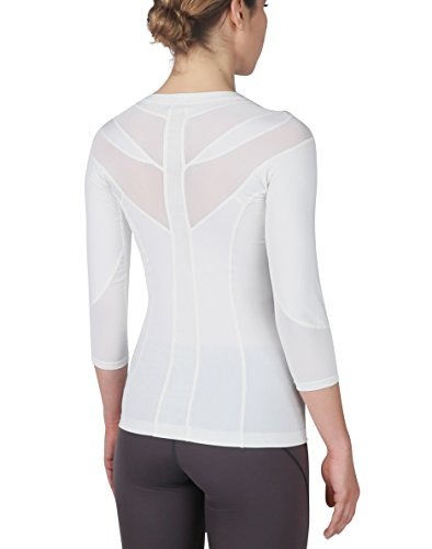 IntelliSkin Womens Foundation 3/4 Sleeve Tee - PostureCue + Smart Compression