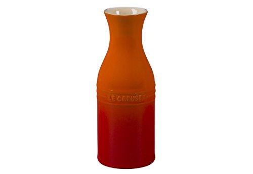 Le Creuset of America Stoneware Wine Carafe, 350ml, Flame