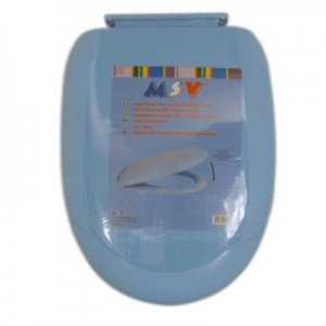 MSV Toilet Seat With Soft Close, Blue 758/140051