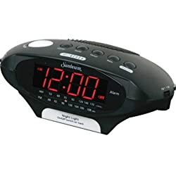 Sunbeam AM/FM Clock Radio w/ Night Light-89020