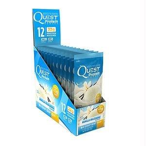 Quest Protein Powder - Vanilla Milkshake - .99 oz - Case of 12