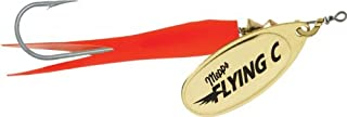 product image for Mepps Flying C 7/8 Hot Orange Sleeve/Gold Blade