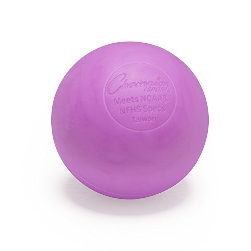 Champion Sports Colored Lacrosse Balls: Purple Official Size
