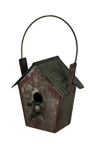 Things2Die4 Rustic Distressed Red Metal Shed Garden Faucet Birdhouse