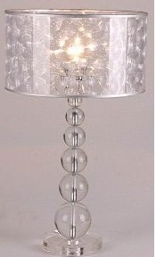 Delicieux Stacked Ball Crystal Table Lamp