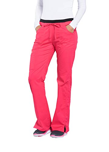 (Cherokee Core Stretch Workwear Women's Flare Leg Scrub Pant Small Fruit Punch)