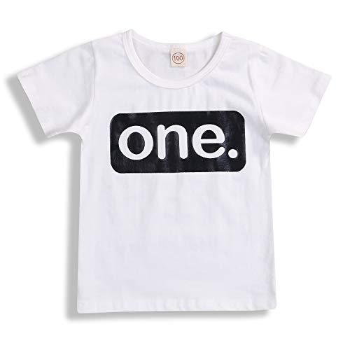 2nd Birthday T-Shirt Toddler Kids Boy Top Two Year Old Shirt Clothes Outfits (12-18 M, White # 1)