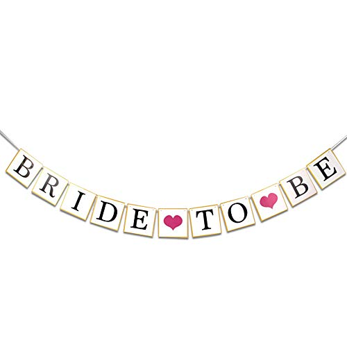 - Bride to Be Wedding Banner Love Engagement Paper Pull Flower Bride Banner Wedding Party Decoration Engagement Photo Prop(5.9X5.9INCH /Wedding Banner)