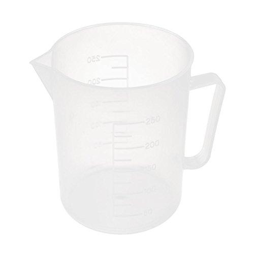 Net 250ml (Plastic Cylinder Beaker Measuring Cup Measurer 250mL 7cm x 9cm Clear)