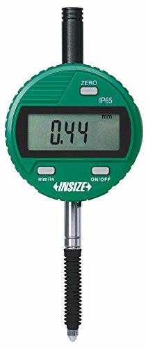 INSIZE 2115-101F Waterproof Digital Indicator, Flat Back, Ip65, Resolution 0.001 mm/0.00005', 12.7 mm/0.5'