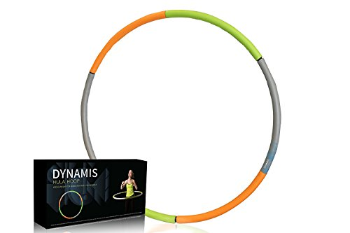 Weighted Hula Hoop - Heavy Fitness Hoop - 3lbs - Weight Loss Workout Equipment - Customizable, Easy to Use Exercise Hoop - Fun, Easy Way to Workout - Dance, Twist, Stretch, & Sweat (Adults Hoop Hula For Weighted)