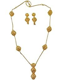 Matra 18K Goldplated Indian Women 2 Pcs Necklace Earring...