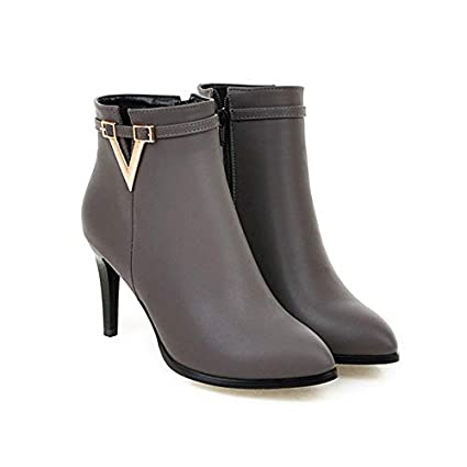 a9b3717841813 Amazon.com: JingZhou Women Shoes High Heel Ankle Boots Martin Zip ...