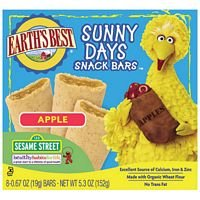 Earth's Best Organic Sunny Days Snack Bars, Apple, 5.3-Ounce Boxes (Pack of 6) ( Value Bulk Multi-pack)