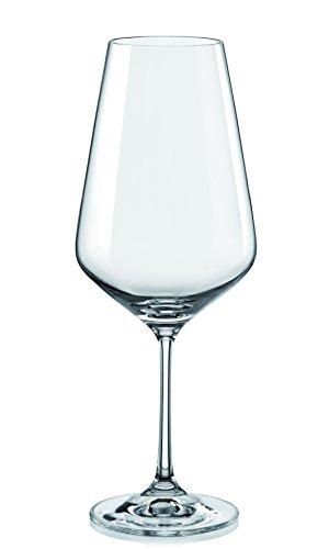 Crystalex Bohemia Sandra Red Wine Glass 19 Oz, Set Of 6, Made In Czech Republic