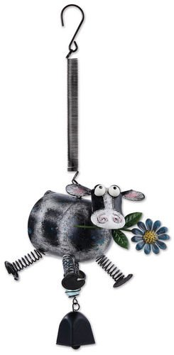 - Sunset Vista Designs Cow with Springy Legs Bouncy Hanging Decoration