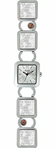 Prima Classe Women's PCD 773/FM Stainless Steel Square Geo-Design Silver Dial Watch