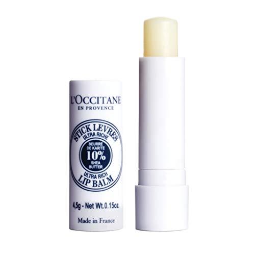 L'Occitane Ultra-Rich 10% Shea Butter Nourishing Lip Balm Stick, Net Wt. 0.15 oz