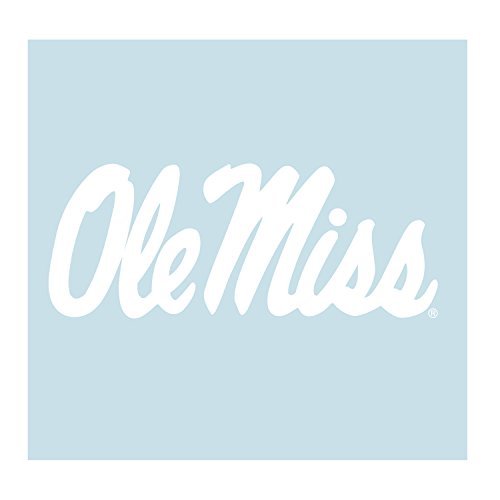 Mississippi Decal WHT OLE MISS DECAL 4